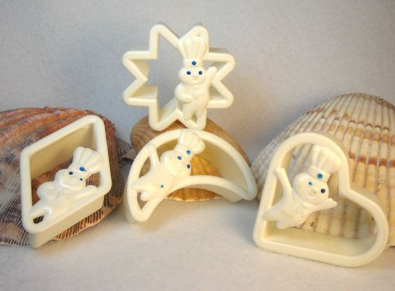 4 Pillsbury Dough Boy Cookie Cutters White by LittleLunchLady, $7.00