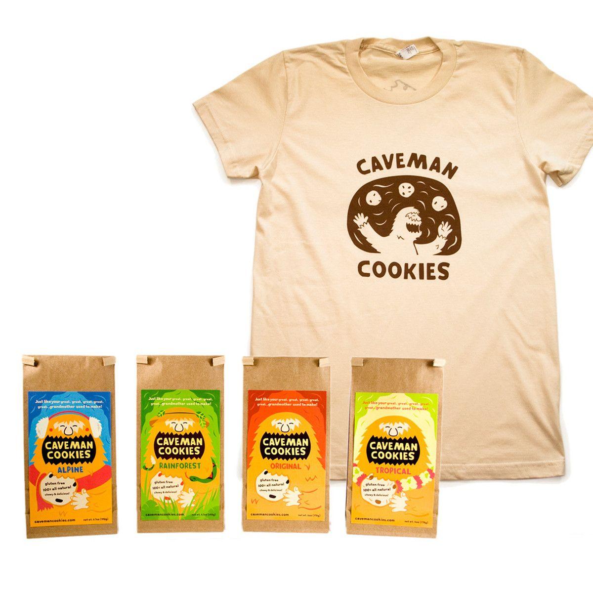 Variety 8 Pack & Crème Tee  by Caveman Cookies