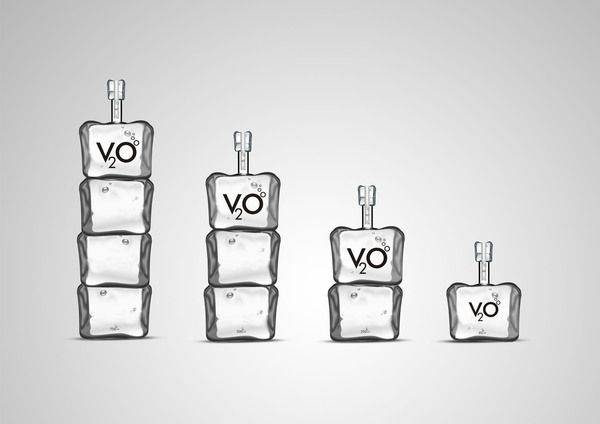 Product + Packaging Design V2O Vodka by Prakash Jayashanmugam, via Behance