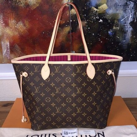 Louis Vuitton (Nwt) Brown Monogram   Pivoine Neverfull MM Tote. Get one of  the hottest styles of the season! The Louis Vuitton (Nwt) Brown Monogram ... b62b24f18cad7