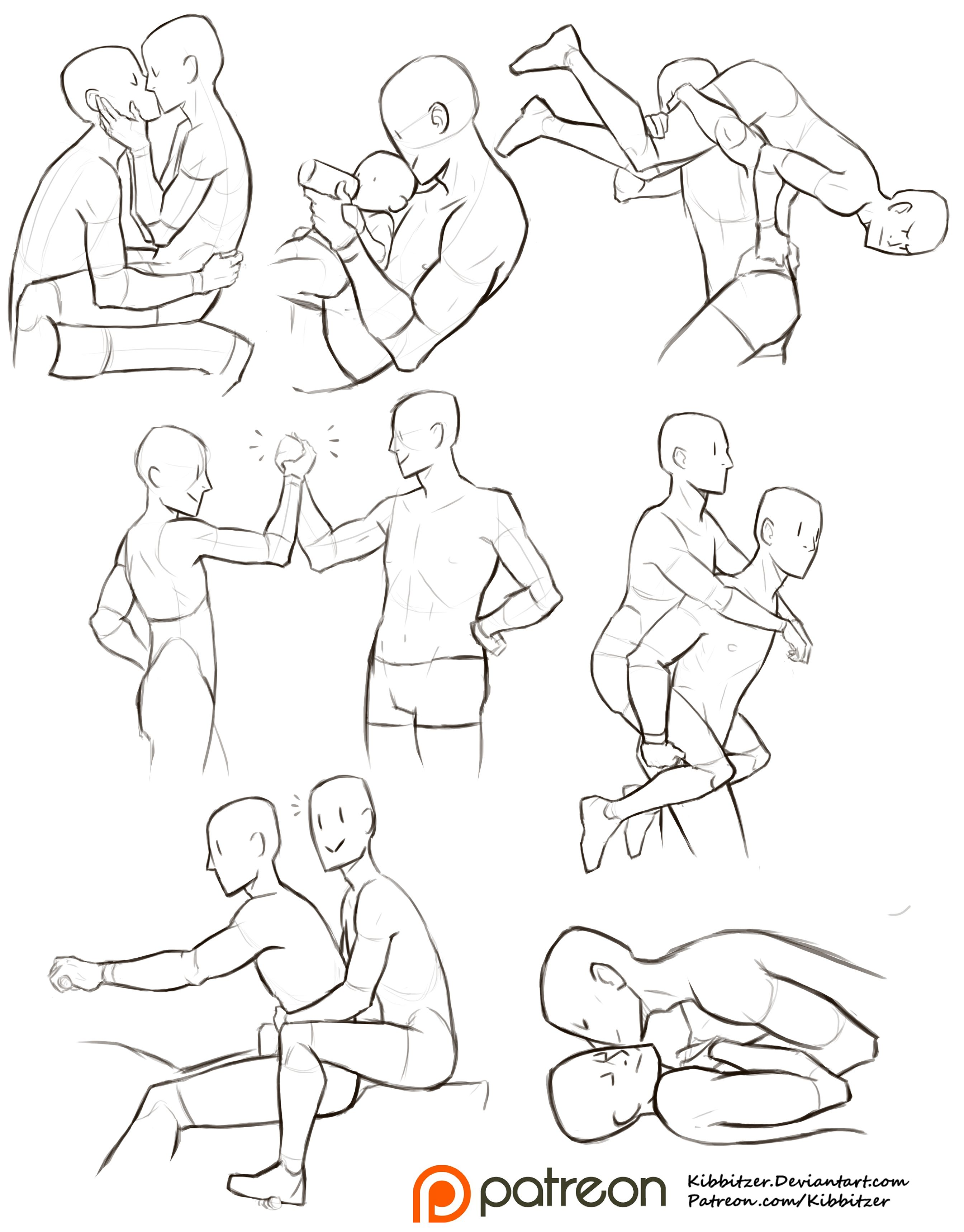 Gay Couple References Drawing