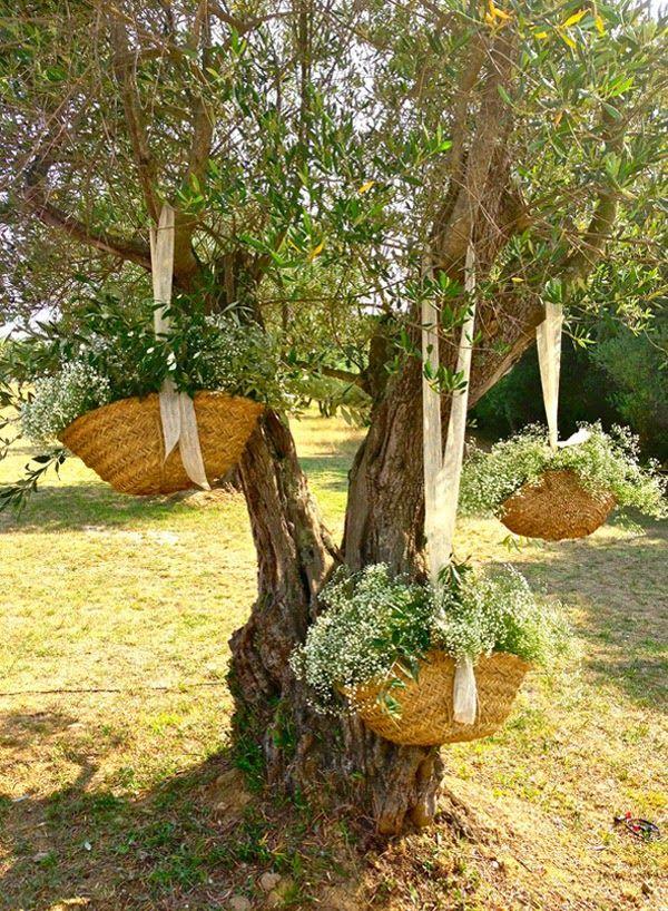 mariola & héctor: bajo el olivo | arreglos florales | pinterest
