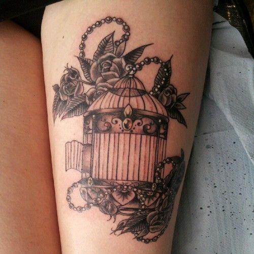 Vintage Birdcage And Flowers Tattoo Tattoomagz Com Tattoo Designs Ink Works Gallery Tattoo Designs Ink W Birdcage Tattoo Cage Tattoos Sleeve Tattoos