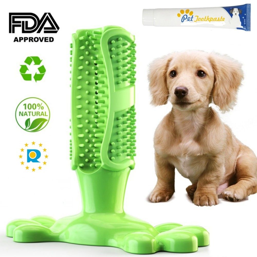 Doggie Toothbrush Toy Clean Mouth While Doggy Plays Cleaning