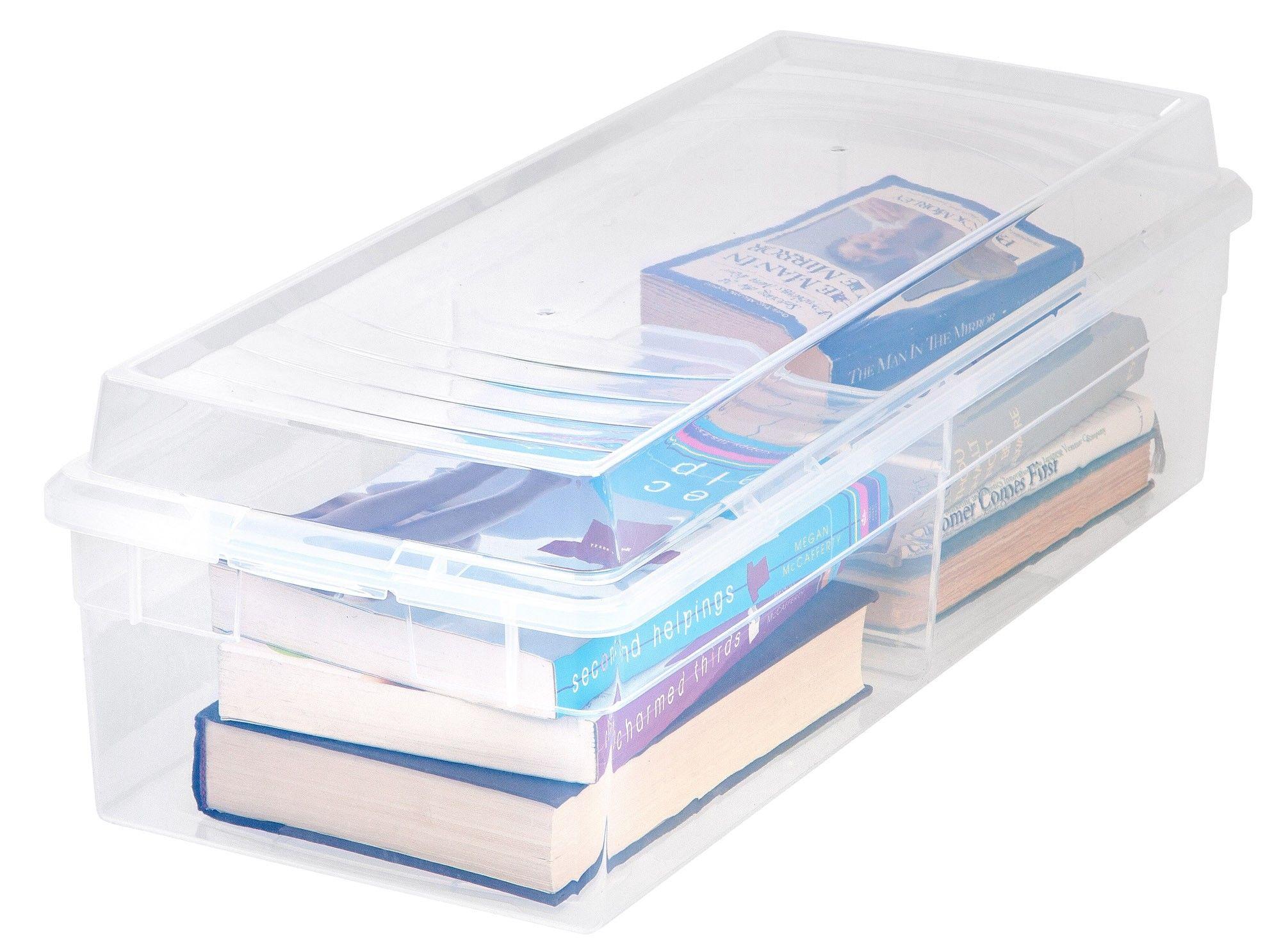 Large Divided Storage Box | Pinterest | Media storage, Storage boxes ...