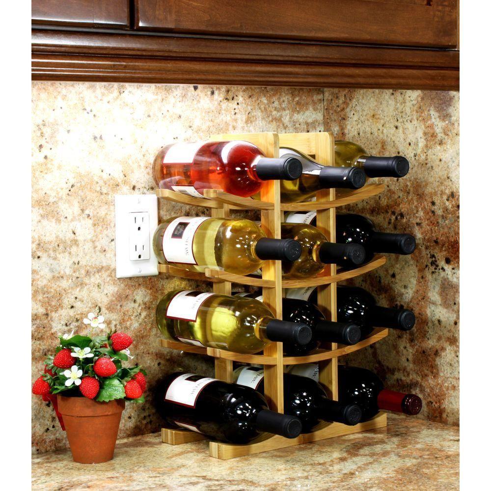 Oceanstar 12 Bottle Bamboo Countertop Wine Rack Wr1149 The Home