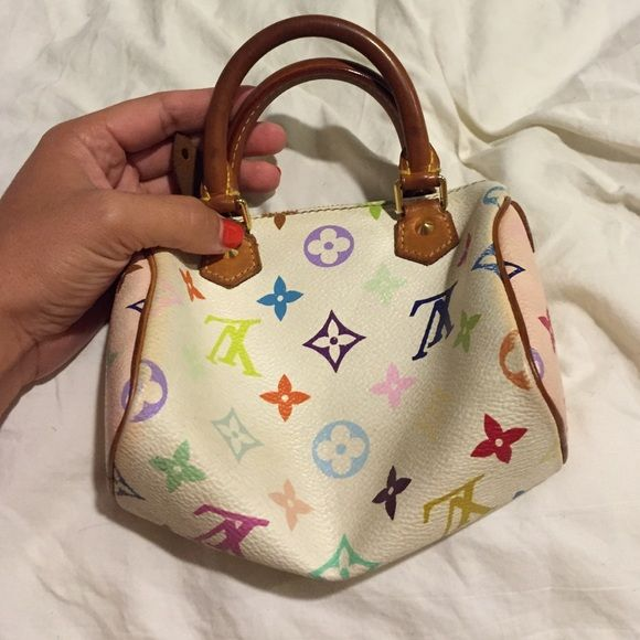 5ce2357ac552 Louis Vuitton mini speedy Nano speedy in multi color! The sides have the  normal pink