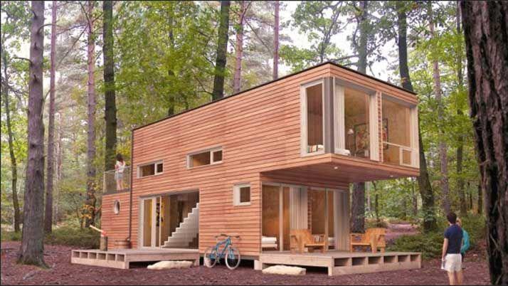Haus Container Module Haus Dekorieren Tipps Design Aussen Mit Wandverkleidung Holz Aussen Und Fensterglas Einbauen Plus Terra Haus Haus Dekoration Aussen Hauser