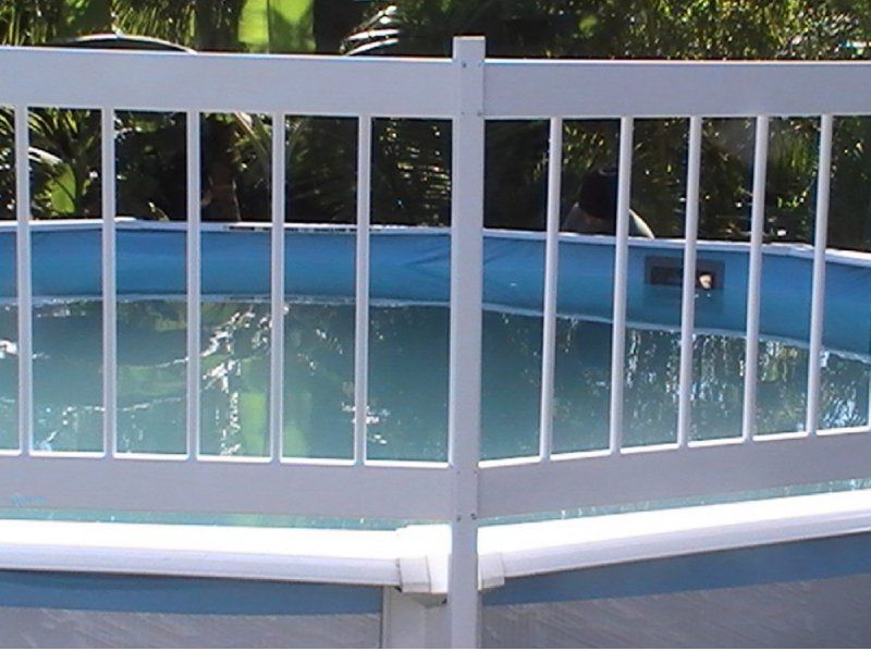 Gli pool products resin fence kit c includes 2 addon
