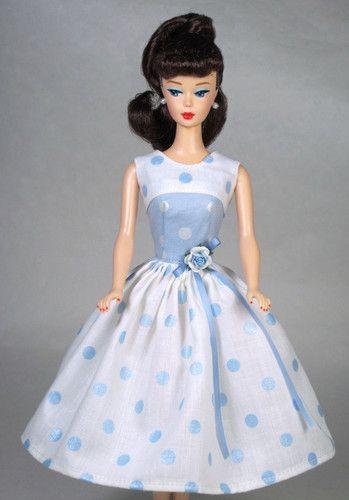 Loves Me Vintage Barbie Doll Dress Reproduction Barbie Clothes Dress Barbie Doll Doll Dress Barbie Clothes