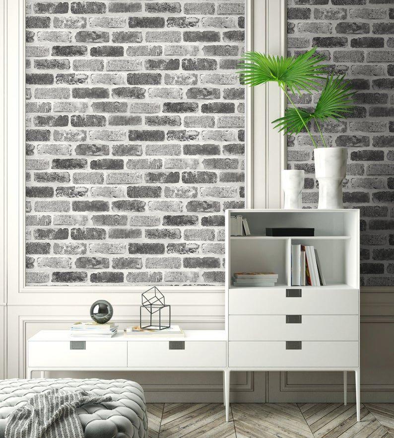 Self Adhesive Wallpaper Brick Wallpaper Peel And Stick Etsy Brick Wallpaper Peel And Stick Peel And Stick Wallpaper Faux Brick