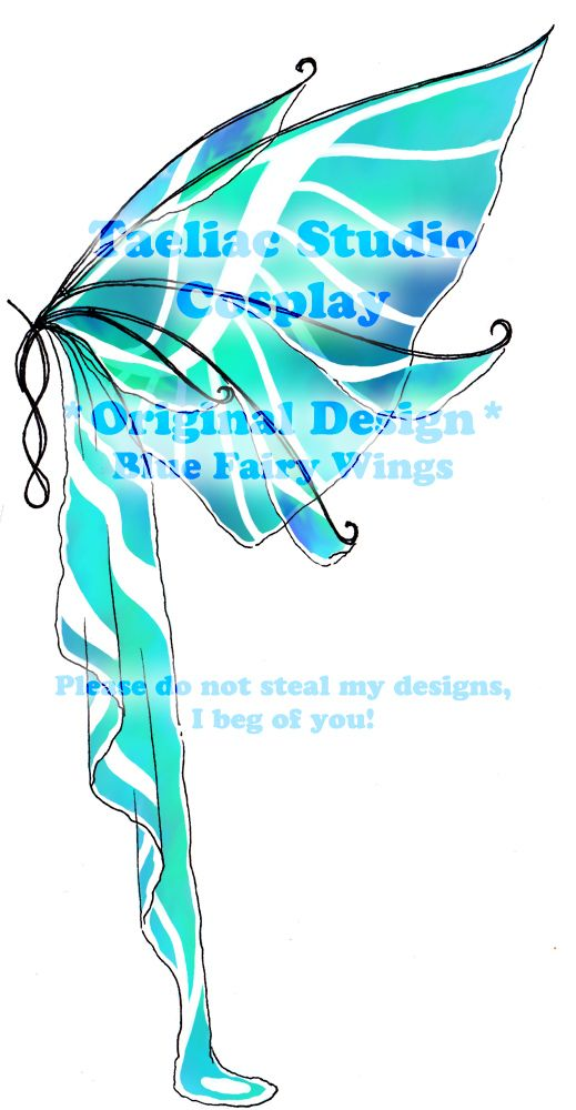 This Set Is More Than Likely The One 039 S That I 039 M Going To Do For My Final The Base Fabric Is A Real Blue Fairy Wings Blue Fairy Butterfly Fairy Wings