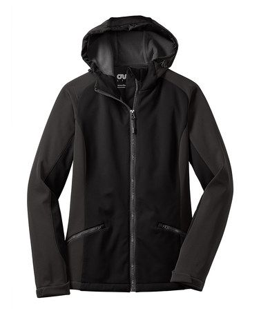 Look what I found on #zulily! - Plus TooBlack Backroads Zip-Up Jacket - Plus Too #zulilyfinds
