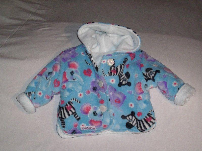 Jacken - Babyjacke Microfaser - ein Designerstück von Christa-Wilbert bei DaWanda