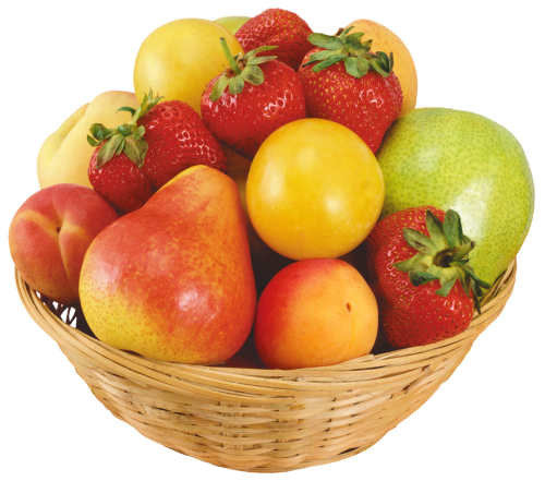 Fruits In Wicker Bowl Png Clipart The Best Png Clipart Fruit Food Png Fruit Clipart