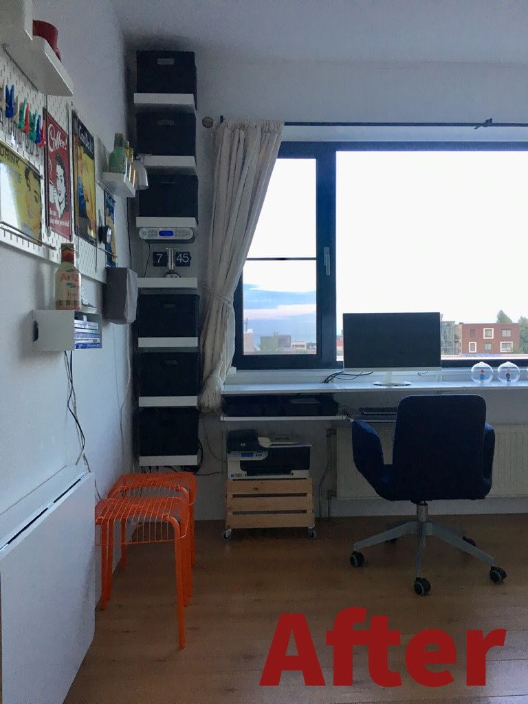 Do It Yourself Home Office: ALGOT Desk With Extendable Desktop And Keyboard Tray