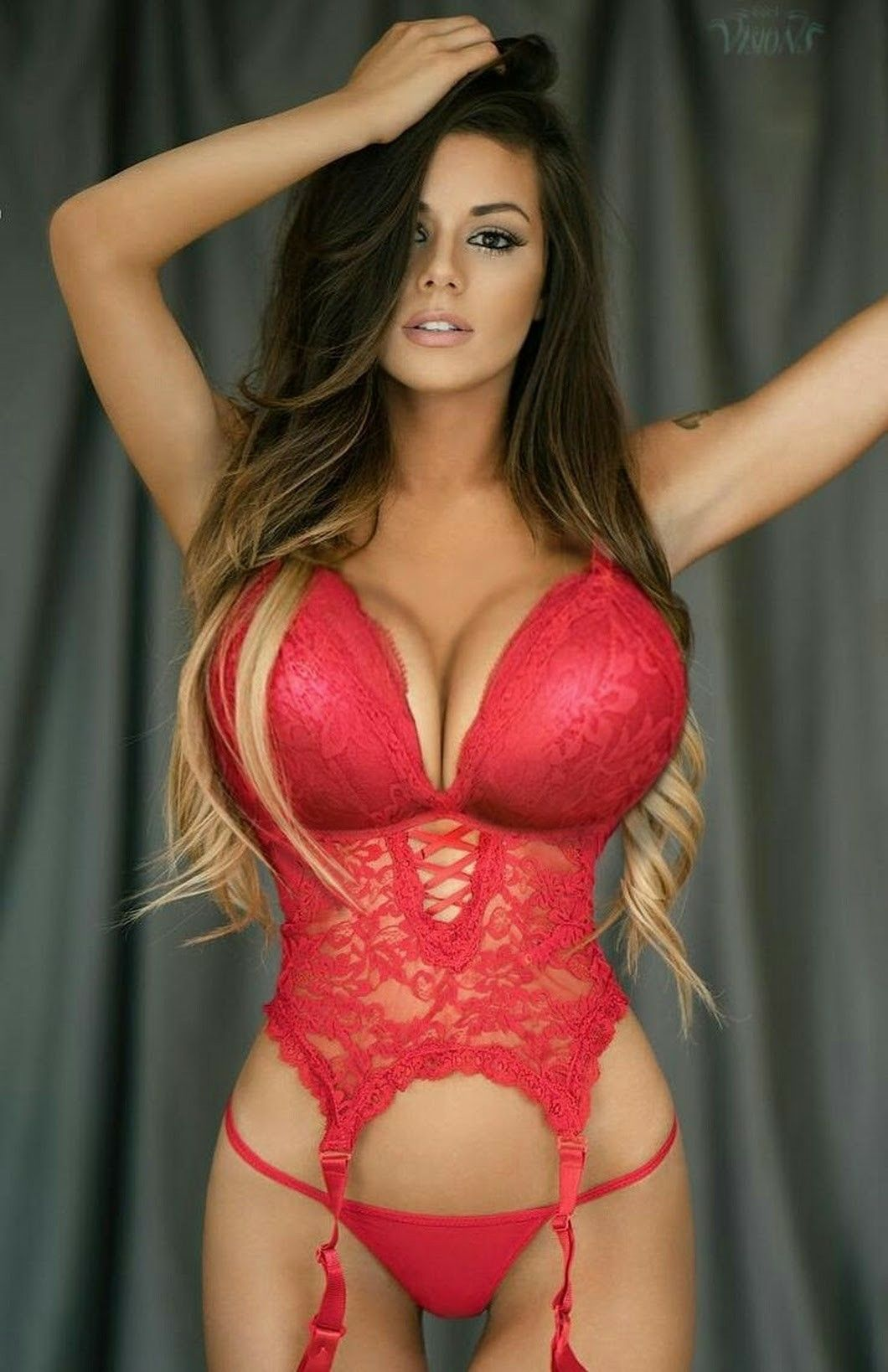 Busty hot lingerie