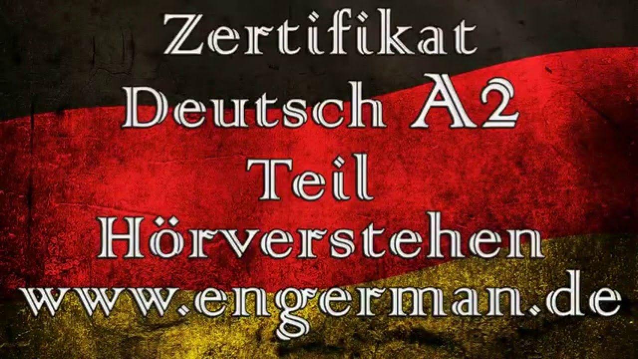 Zertifikat Deutsch A2 | Start Deutsch A2 | Modelltest 1 | deutsch ...