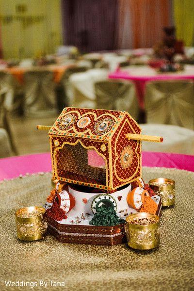 Mini palanquin table centerpiece decorations pinterest indian wedding receptions junglespirit Image collections