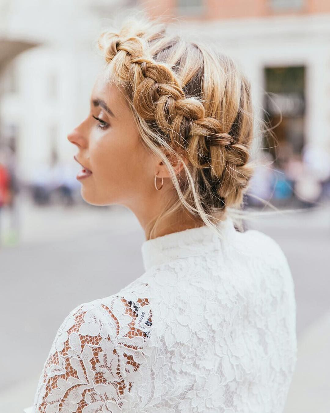 Textured updo, braided updo wedding hairstyles,updo hairstyles,messy ...