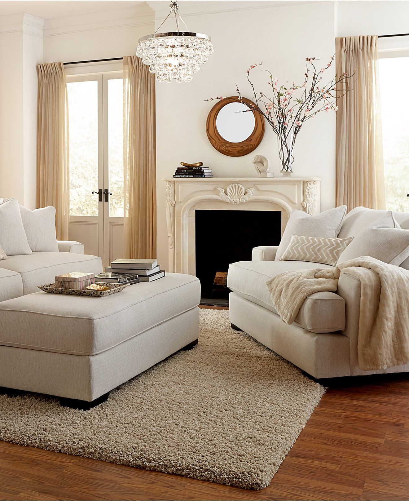 Furniture Ainsley Fabric Sectional Collection Created For: Ainsley Fabric Sofa Living Room Collection, Created For
