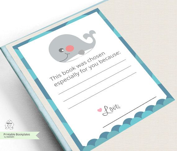 Printable Bookplates -Book Plates -Baby Shower Bookplate - INSTANT ...