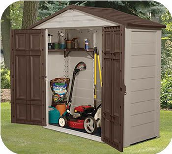 1300 Suncast 8x3 Resin Plastic Storage Shed W Floor