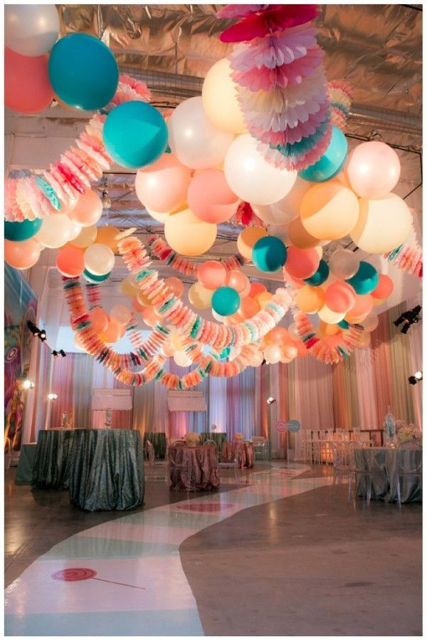 Candy Decorations Party Ceiling Candyland Decor Bat Mitzvah
