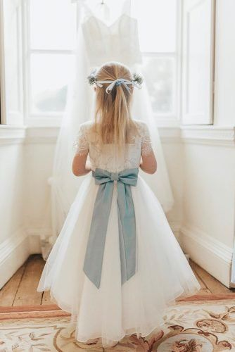 21 Flower Girl Dresses To Create A Magic Look | Wedding Forward -   19 dress Flower Girl blue ideas