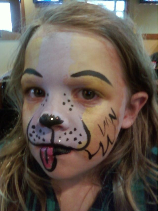 Puppy Face Paint Halloween Makeup Inspo Puppy Face Paint Dog