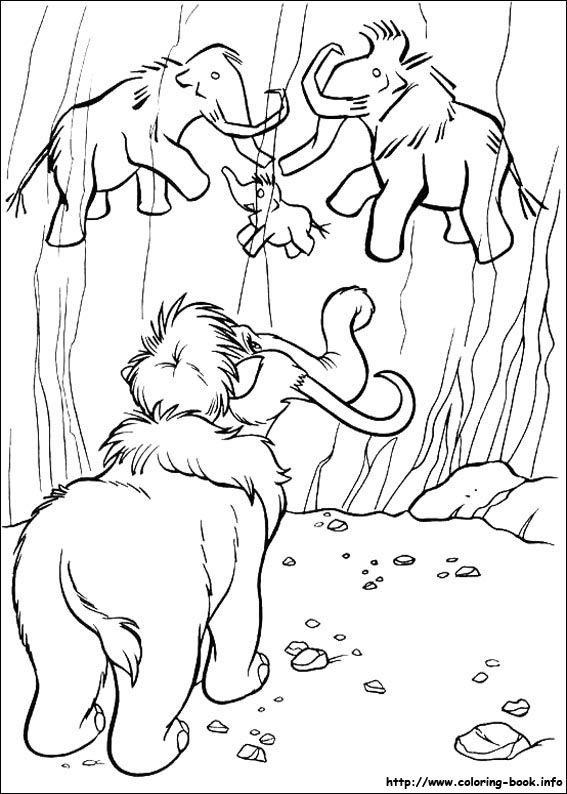 Ice Age Coloring Picture Paginas Para Colorir Desenho Rupestre