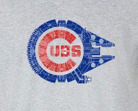 Chicago Cubs Star Wars Mashup Millennium Falcon Tee T