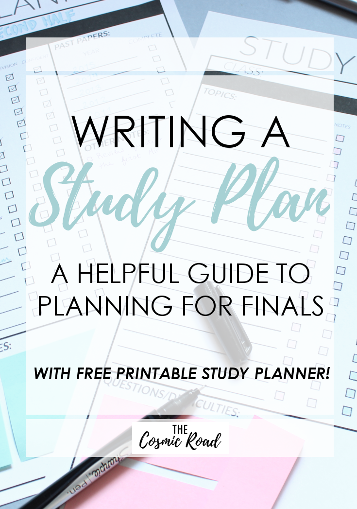 Writing a Study Plan: A Guide to Planning for Finals | Pinterest ...