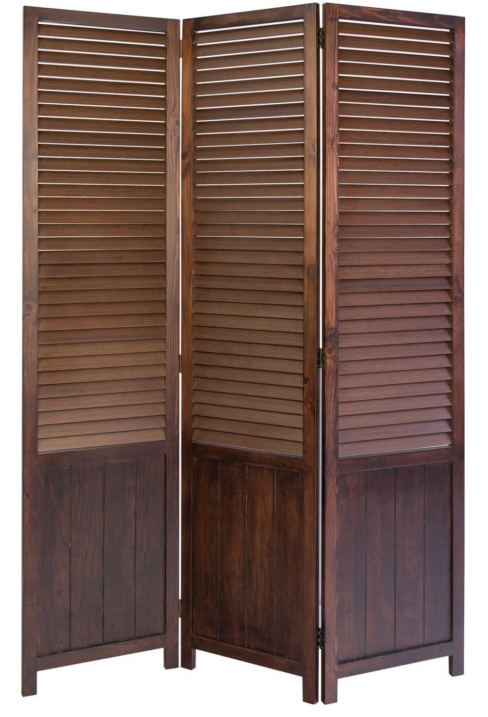 Venetian wooden room divider screen dark brown room divider