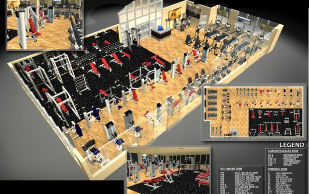 Gym Facility Design Layout Commercial Gym Design Gym Plan Gym Interior