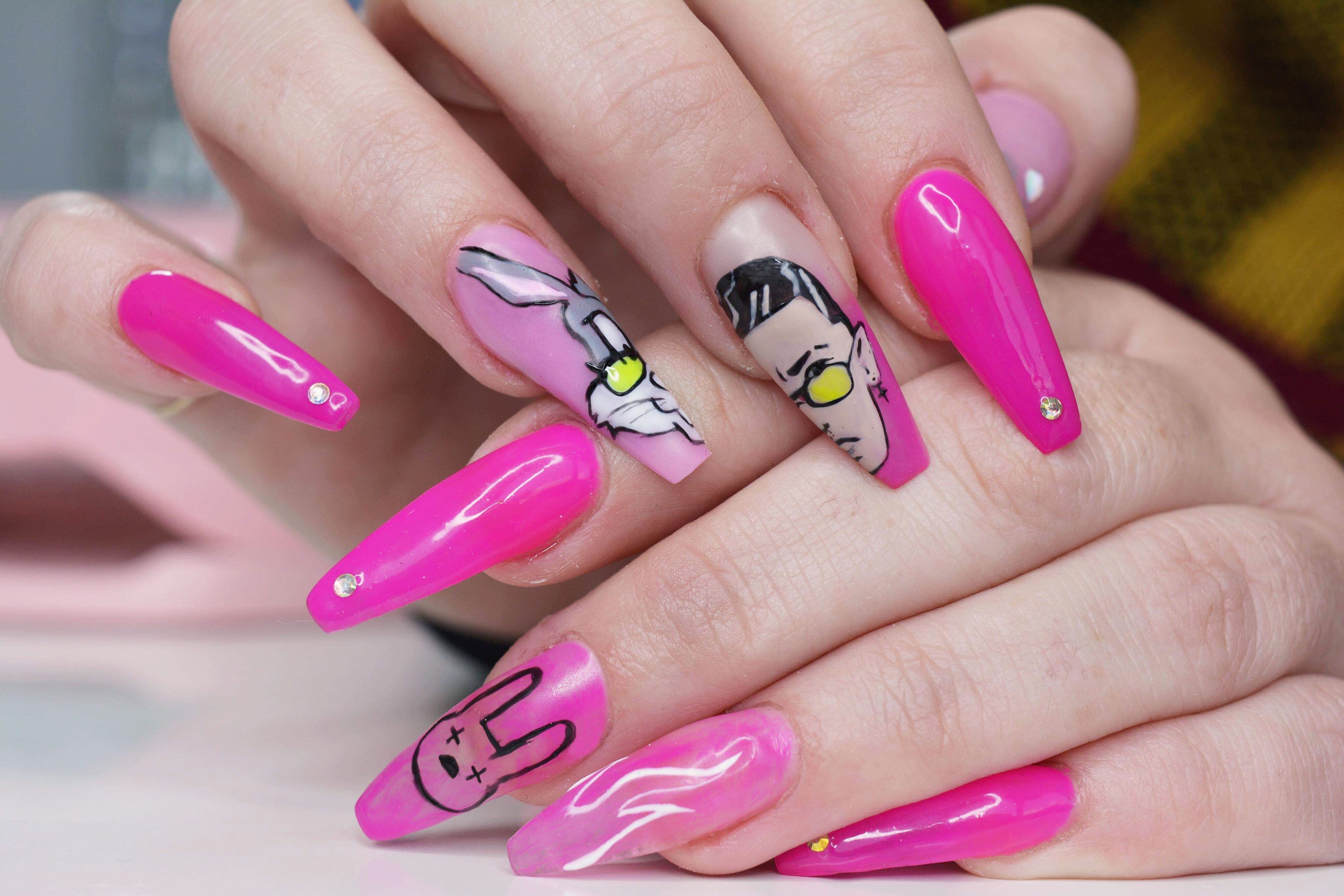 BAD BUNNY nails #badbunny @bcr.studio.nails (With images ...