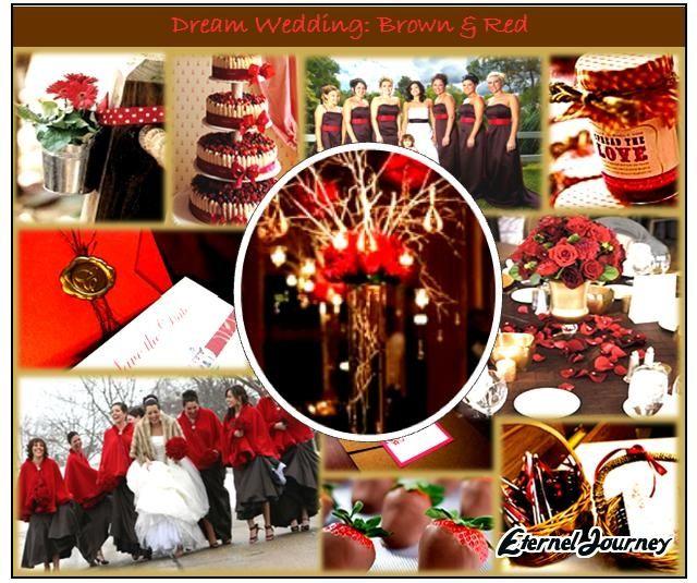 Red Brown Wedding Theme Google Search