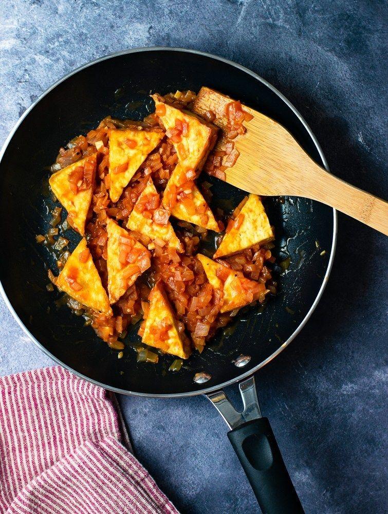 Easy ketchup sauce tofu vegan oilfree recipe tofu