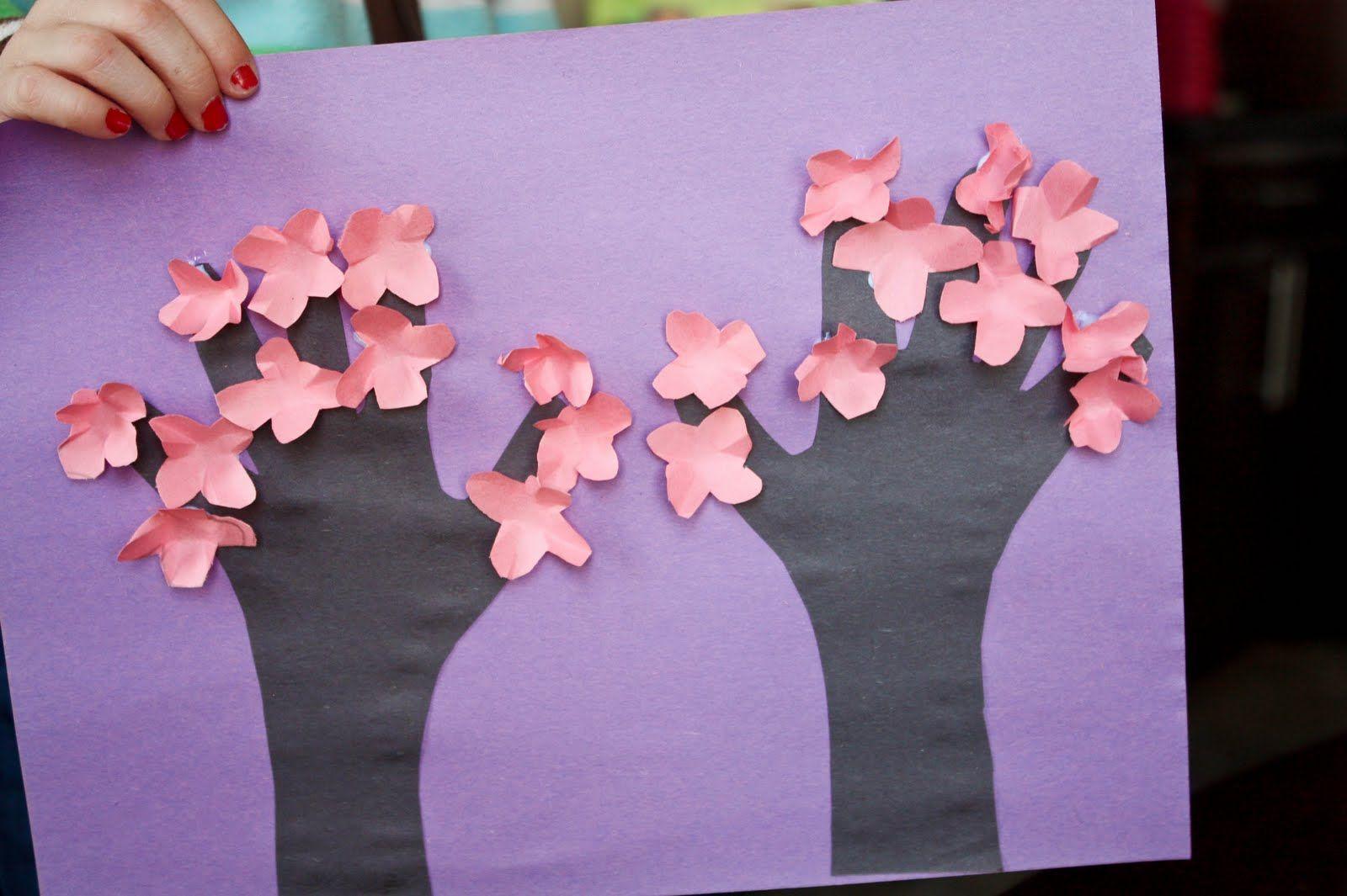Vixenmade Cherry Blossom Tree Kids Craft