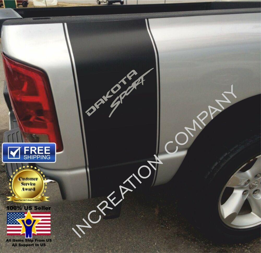 Racing Stripes For Dakota Truck Decals Sport graphics rear
