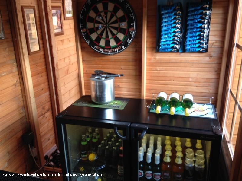 The Nags Shed Pub Entertainment From Top Of The Garden Shedoftheyear Pub Sheds Garden Shed Storing Garden Tools