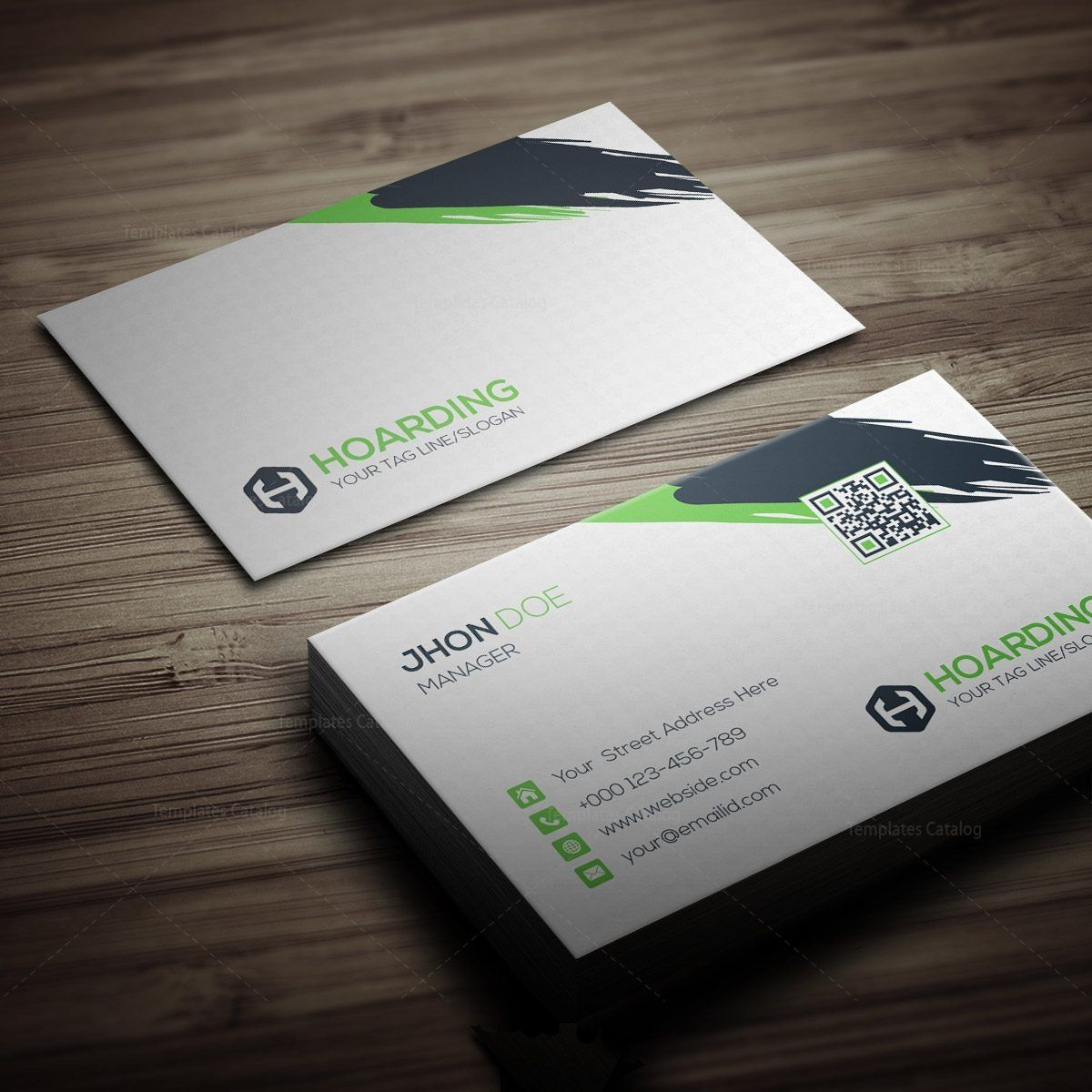 Stylish Hoarding Business Card Template 000264 Template Catalog Business Card Template Letterpress Business Cards Business Card Minimalist