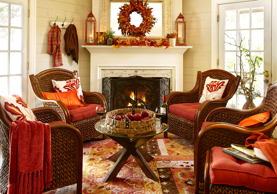 Circle Chairs Around The Hearth To Encourage Warm Conversations Fall Home Decor Family Living Rooms Decor