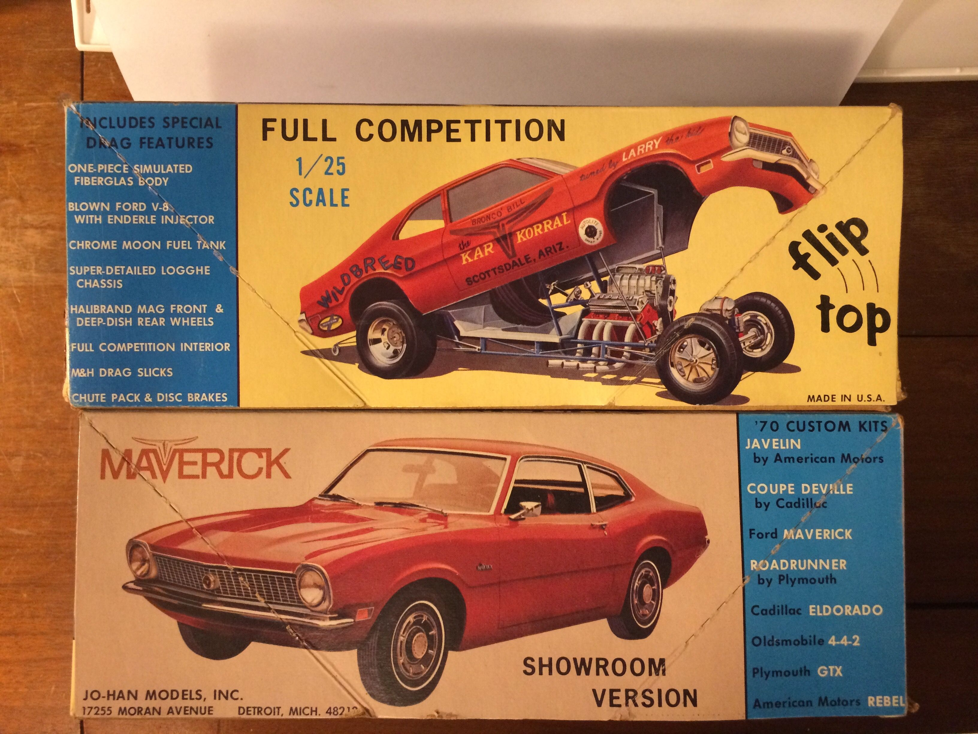 Johan Maverick Model Kit Box Art Model Cars Kits Model Kit Car