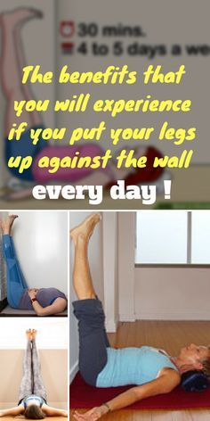 legs up the wall pose or viparita karani is the easiest