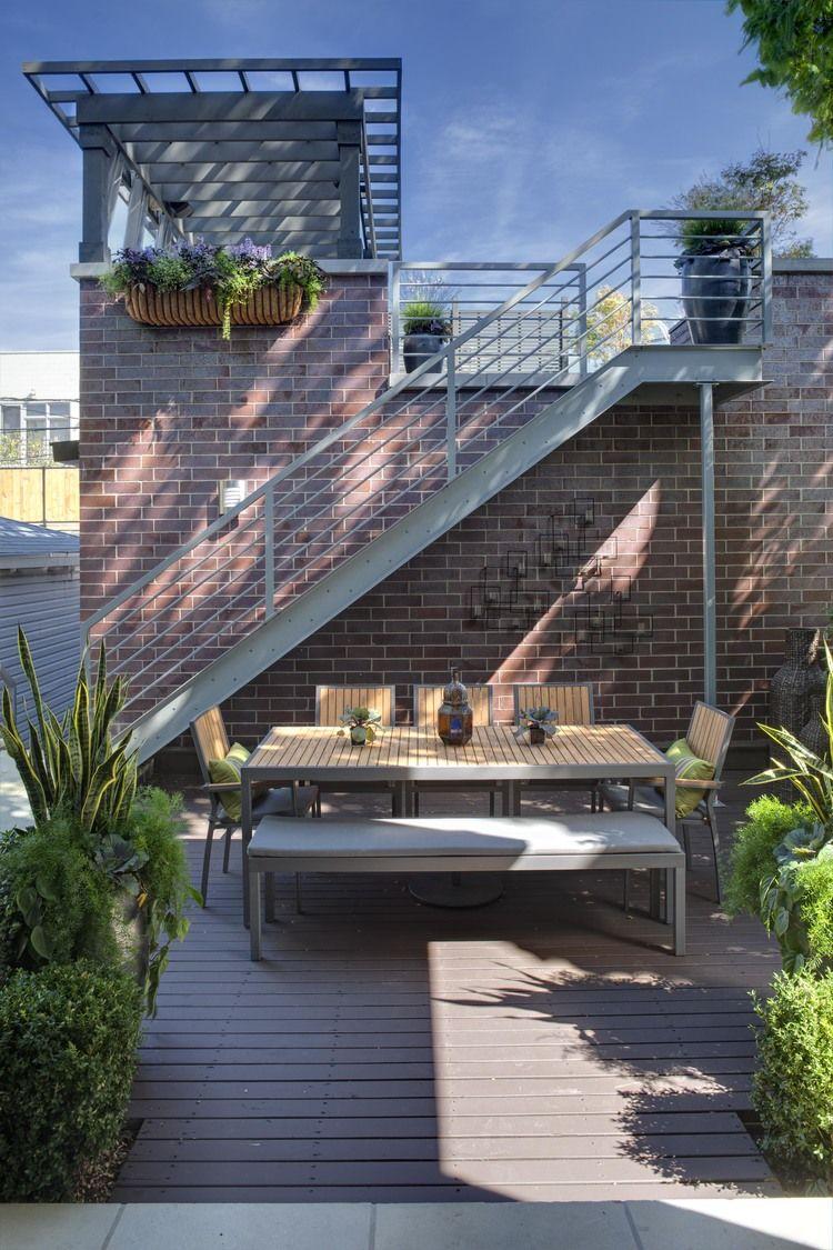 Love This Outdoor Rooftop Deck Rooftop Patio Contemporary Patio