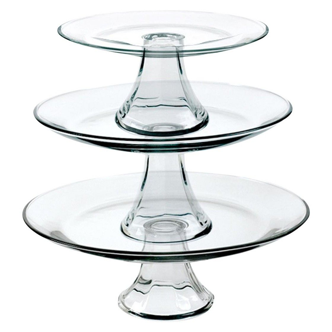 Tiered Pedestal Serving Plates Set Of 3 Tiered Serving Platters Tiered Stand Glass Cakes