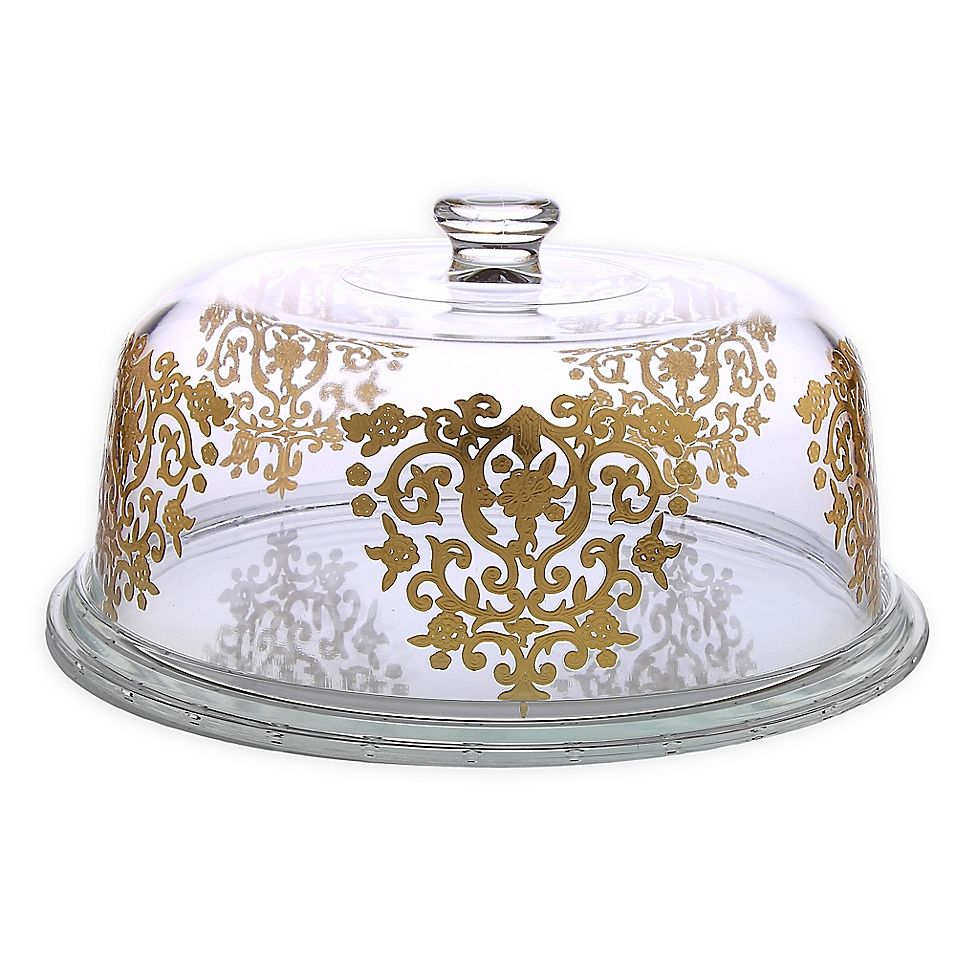 Classic Touch Glim Cake Plate With Dome Gold In 2020 Cake Plate With Dome Cake Dome Cake Plates