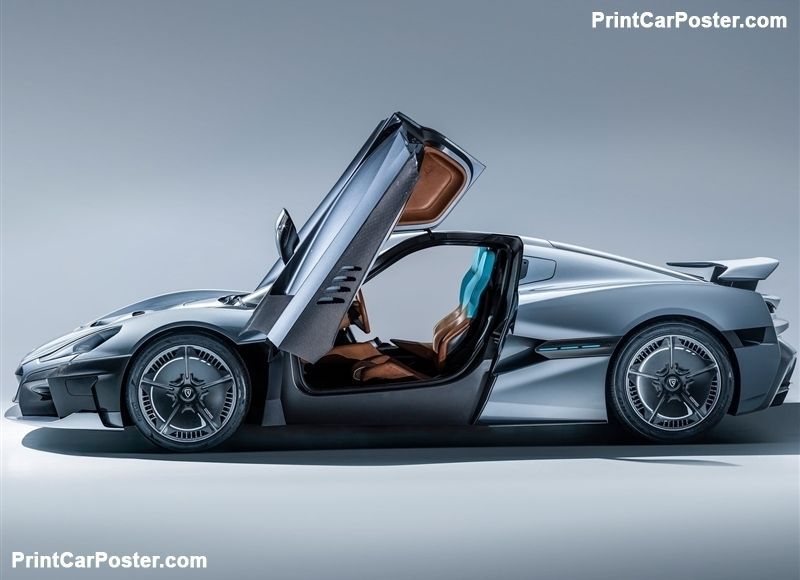 Rimac C Two 2020 Poster Printcarposter With Images Konie
