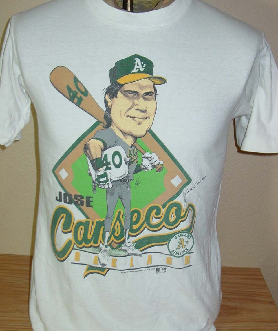 the latest d3865 c0405 vintage 1989 Oakland A's Jose Canseco cartoon t shirt Medium ...